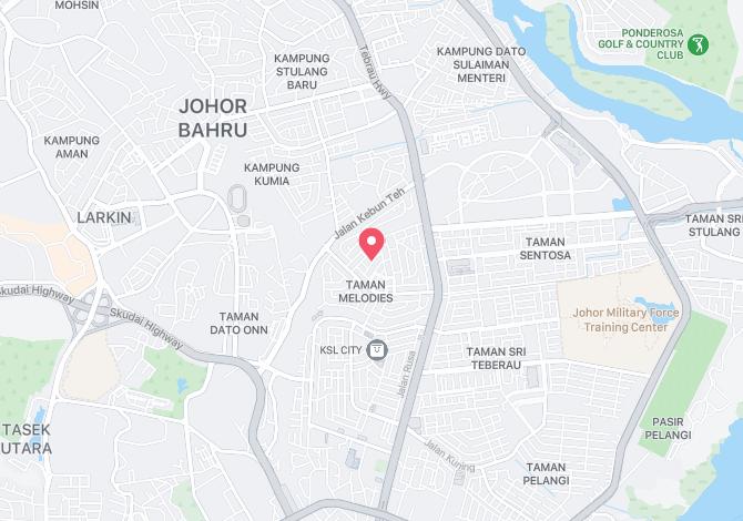 Denah Peta Alamat Jalan Jati Johor Bahru Johor