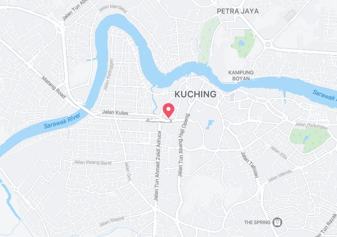 Denah Peta Alamat Jabatan Kehakiman / Mahkamah Tinggi Kuching Sarawak