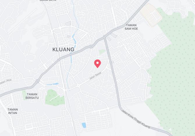 Denah Peta Alamat Jalan Tembusu Kluang Johor