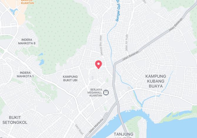 Denah Peta Alamat Jalan Haji Ahmad (1 – 7) Kuantan Pahang