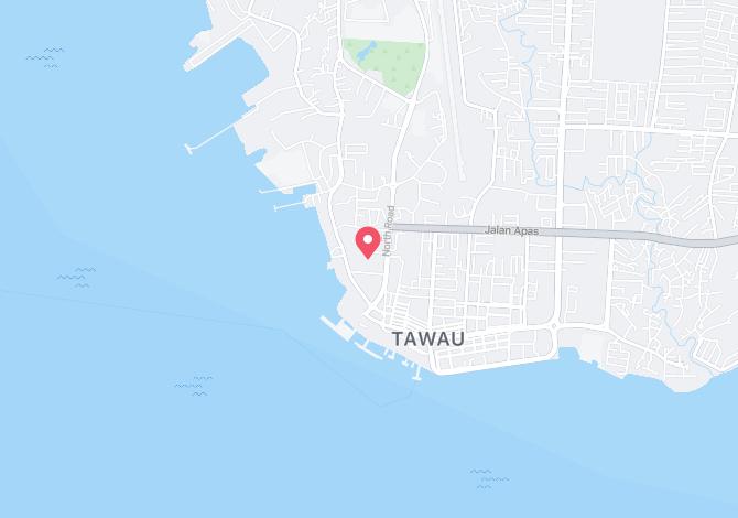 Denah Peta Alamat Tawau – Peti surat  60701 – 60800 Tawau Sabah