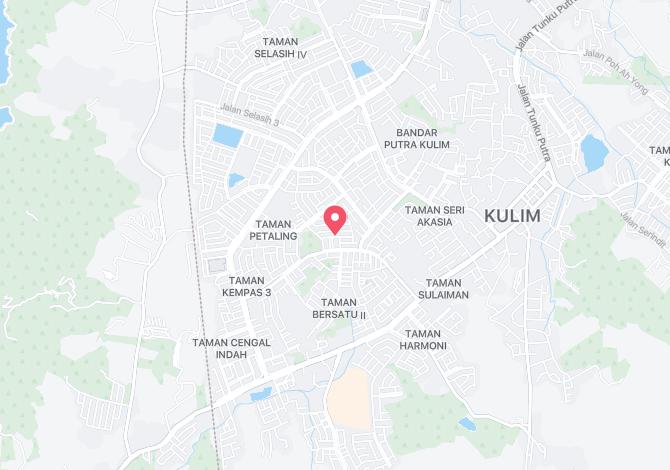 Denah Peta Alamat Taman Jati Kulim Kedah