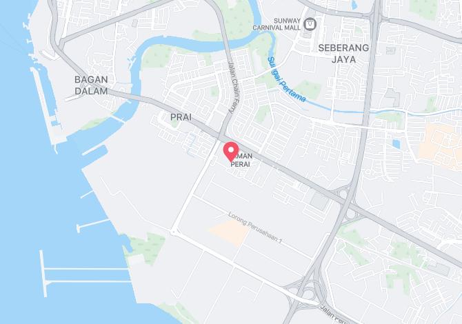 Denah Peta Alamat Taman Emas Perai Pulau Pinang