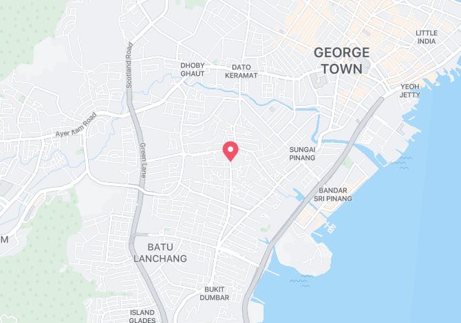 Denah Peta Alamat Jalan Perak (302 – 420) Jelutong Pulau Pinang