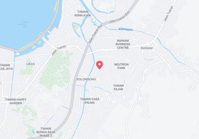 Denah Peta Alamat Lorong Sri Kelombong Kota Kinabalu Sabah