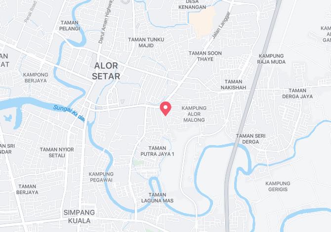 Denah Peta Alamat Lorong Seri Kota Alor Setar Kedah