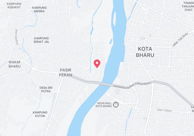 Denah Peta Alamat Kampung Tengah Tumpat Kelantan