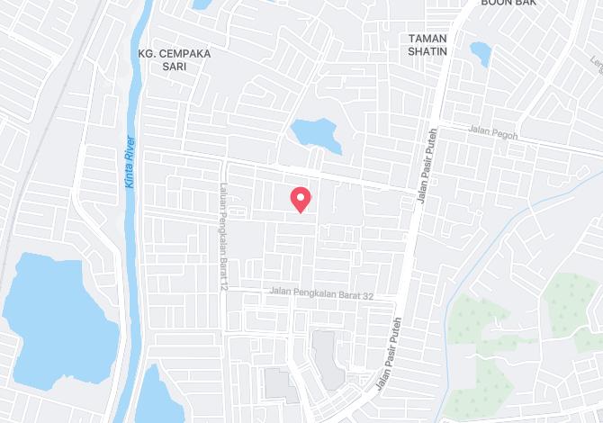 Taman Puteri Lindungan Bulan, Ipoh Alamat Map Direction Coordinate