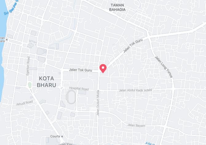 Emaslink Pacific Hotel, Kota Bharu Alamat Map Direction Coordinate